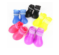 Free Shipping 2014 Lefdy News DOG BOOTS Waterproof Protective Rubber Pet Rain Shoes Booties of Candy Colors