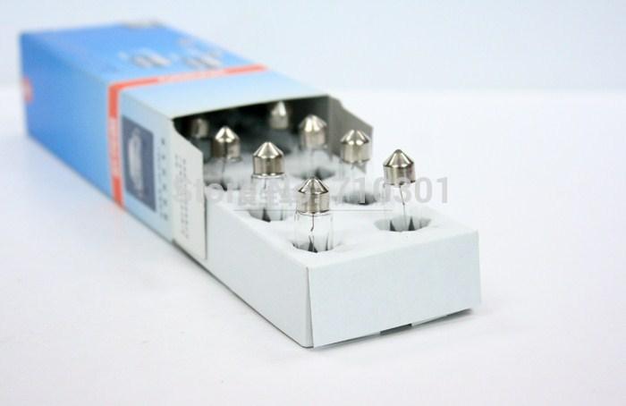 Free shipping fee! 10pcs/lot, Osram REAR lights 6418 C5W 12V 5W SV8.5 36-38MM 3200K , MADE in CHINA(China (Mainland))