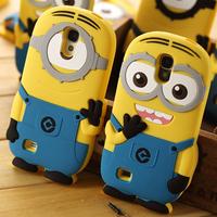 Cute cartoon model silicon material Despicable Me Yellow Minion Case for Samsung Galaxy S4 I9500
