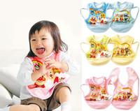 wholesale 50 pcs/lot 6 designs baby waterproof bib aprons/ feeding nursing covers/  clothing for drawing/ 0-3 years old kids