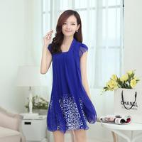 Free shipping Hot-selling summer fashion elegant sweet chiffon one-piece dress hodginsii bmz1311