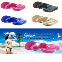 Snail gold summer women's shoes platform flip flops girls sweet platform slippers wedges female sandals
