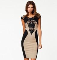 New 2014 women's spring summer clothing fashion women pencil European&American dresses free shipping