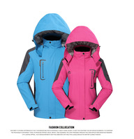 Free shipping 2014 couples Spring Late Winter Warm women's Outdoor Jackets Climbing waterproof windproof breathable sports coat