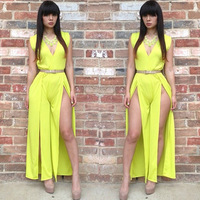 Shipping Direct Selling Limited None Europe 2014 Fashion Women Hollow Sexy Elegant Nightclubs Dresses V-neck Slit Bodycon Dress