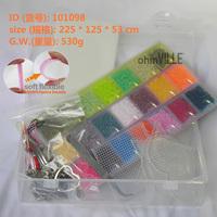 21 Colors Box Set for 2.6mm Soft Flexible Mini Hama Beads 14300pcs 100% Quality Guarantee Perler Beads, Fuse Beads+Free Shipping
