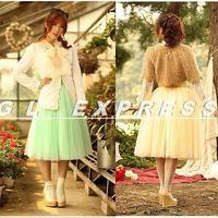 NEW Style Lace Bubble Long Skirt Women Princes 5 layered Tulle Tutu Bouffant