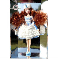 Free Shipping Fashion Romantic White muscle joint dolls  for Barbie BBWW0028