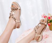 new 2014 summer shoes woman flat shoes women sandal for women flats black free shipping