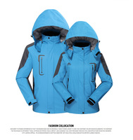 2014 Couples Lovers men women spring autumn outdoor jacket outerwear windproof waterproof hiking Skiing clothing Coat DF818