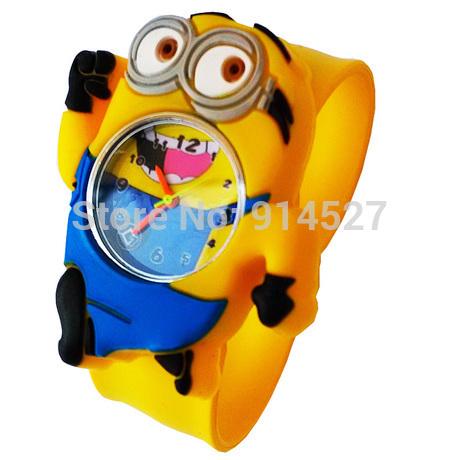 New 2014 Digital Jelly Despicable Me 2 Minion Children Cartoon Watch Children Girls Boys Gifts Sport Wristwatches Accessories(China (Mainland))
