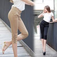 New women's casual pant seventh harem pants feet pencil pants 2 color 7 Size : S-4XL