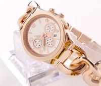 2014 New Kors Twist bracelet watches gold  famous Luxury Brand Women Ladies dress watches clock Quartz WristWatch