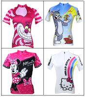 Hot Sale! 2014 New Summer Women's Cycling  Short Sleeve Jersey