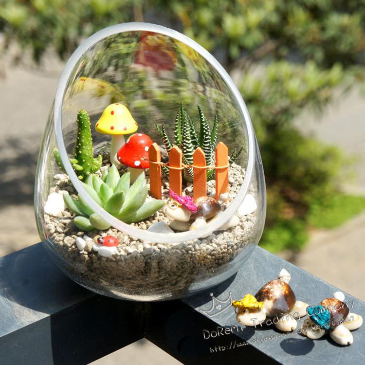 mini jardins em vaso: presente em Vasos de Casa & jardim no AliExpress.com