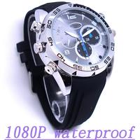 Watch hidden camera 8gb New 1080p hd mini dv IR Night Vision Waterproof 1920*1080 Free shipping