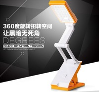 yellow  22 LED Energy Saving Rechargeable Folding USB Clamp Clip Desk Light Lamp LED-667