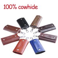 New 2014 Brand Cowhide Men's Key Wallets Men Card Holders Passport Covers 100% Genuine Leather Passport Cover Wallet Cowhide
