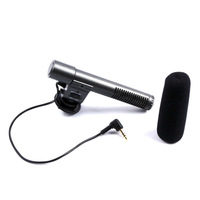 Black External Stereo Microphone for Canon EOS 5D Mark II 7D 60D 600D T3i 550D