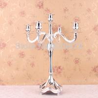 Rare antique gold plated 5 light candelabra metal candle holder set candlesticks wedding decoration 7159-5,special design