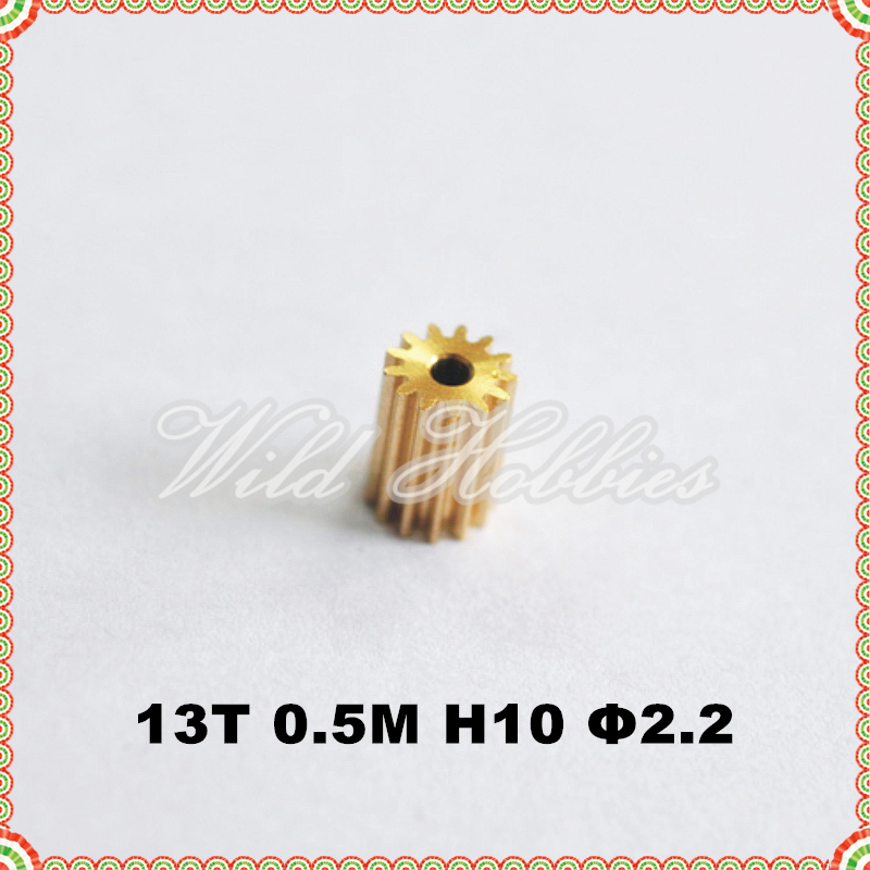 RC Hobby Accessories Replacement Brass Pinion Gear 13T 0.5M for 450 Helicopter(China (Mainland))
