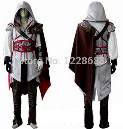 Assassins Creed Costume For Anime Ezio Cosplay Custom Made Free Shipping(China (Mainland))