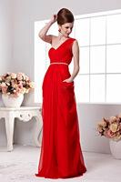 2014 red one shoulder beading fashion formal dress bridal elegant formal dress