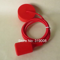 Color silicone pendant light  holder with textile cable 3 meters long 10pcs/lot via dhl free shipping.