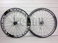 road bike disc cosmic carbon wheels cosmic mavic carbon fiber wheelset(front 38mm,rear 50mm) with novatec disc hubs