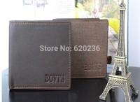 New High Quality Vintage Fashion Casual Genuine Leather Cowhide Short Bifold Horizontal Men Wallet Wallets Purse 50pcs/lot
