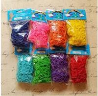 Free FedEx shipping 500sets /a lot 2014 rubber bands loom kit Refills Twistz Bandz 600 bands for bracelets+24 S-Clips