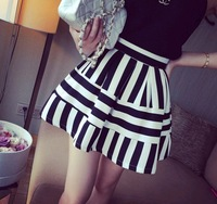 2014 New Womens vogue fashion skirts mini skirt fashion women skirt casual girl skirt ball gown striped cotton fashion JU