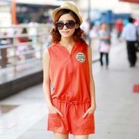 Fashion Summer Women Casual Jumpsuits.Short Sleeve Round neck Jumpsuit. size M,L,XL,XXL lady Rompers js1008