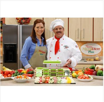 nicer dicer plus de herramientas de cocina de frutas vegetales máquina de cortar los alimentos contenedores cortador de chopper cortar la papa peelers cocina comedor y barra de herramientas