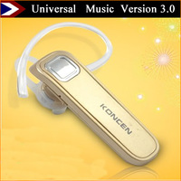 New Arrival Wireless Earphone Bluetooth Headset Support Music Universal Wireless Earphone Headphone Version 3.0 Free Shipping