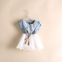 Top On Top  retail new 2014  Arrival Summer Fashion Girls Dress Brand Children Dresses Top Quality Girl Dress Kids Clothing