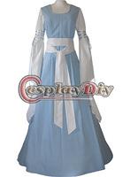 Cheap Custom-made Light Sky Blue Medieval Luxurious Dress Victorian Dress for Parties