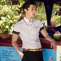 Peace bird 2014 latest fashion shirt / Korean cultivating tide B1CC32605B4