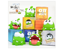 Free shipping 7cm 7pcs/lot om nom cut the rope plush cut the rope figure toys game cut the rope