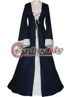 Cheap Custom-made Black And White Dress Medieval Renaissance Victorian Dress