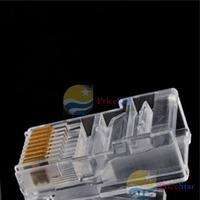 PriceStar 100 Pieces 8P8C RJ45 Modular Plug for Network CAT5 LAN Worldwide free shipping