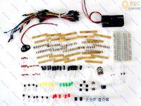 Basic Electronic kit Starter Project IC LED Resistor Switch buzzer capacitor