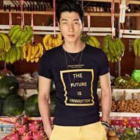 Peacebird men's new summer men's casual T-shirt slim tide B2DA3270550