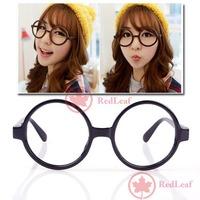 RedLeaf New Unisex Fashion Round Frame Party Fancy Dress Big Nerd Eyeglasses Glasses Worldwide free shipping