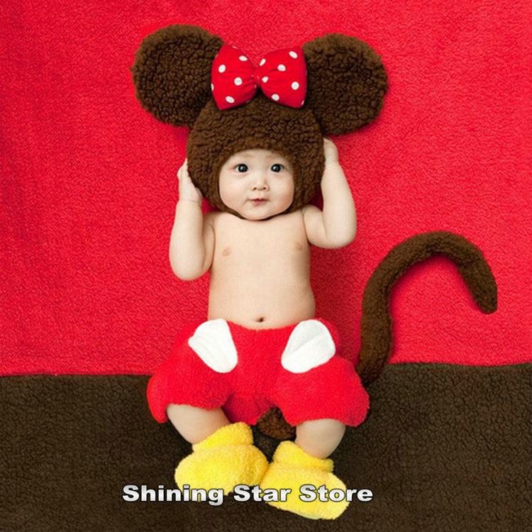 4pcs Set Bebê Crochet Minnie Mouse Hat fralda cobrir Saia Sapatos + Blanket fundo roupa de bebê 0-3 meses recebendo os cobertores(China (Mainland))