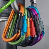 5pcs Aluminum Carabiner D-Ring Key Chain Clip Hook