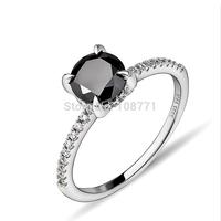 GNJ0547 Exquisite! Wholesale Free shipping 925 sterling silver fancy black CZ for wedding women beauty jewelry