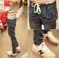 ZRY 5177# Spring Autumn Winter New European Women's Harem Pants Solid Color Loose Jeans Size:26-32