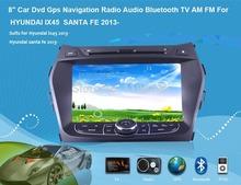 Android 8 » автомобиль Dvd Gps радио аудио Bluetooth телевизор AM FM для HYUNDAI IX45 санта-фе