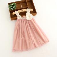 2014 New Baby Girl Summer Lace Sling Vest Tutu Dresses, Kids Sweet Clothing, Wholesale 6  pcs/lot Free Shipping